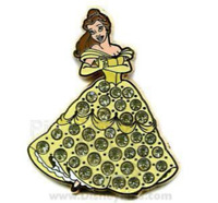 Disney Pin 50818 Belle Jeweled Yellow Dress Princess Beauty and the Beast