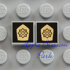 NEW Lego GOLD DETECTIVE BADGES Gray 1x1 Minifig Police Agents Shield Tiles 10158