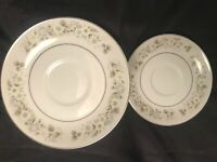 "Imperial China By W Dalton 745 Wild Flower Set of 2 SAUCERS 6"" Japan"