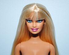 SASSY! Straight Blonde Hair Belly Button NUDE w/ Bangs, Blue Eyes Genuine BARBIE