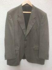 "Mans Jacket 48 "" Cashmere Blazer Grey Tweed L Patches Herringbone Sport El Corte"