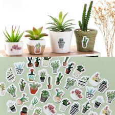 DIY Cute Pot Cultured Green Plants Label Stickers Diary Album Stick Label 45pcs