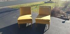 Paul Mccobb Irwin Slipper Chairs - Brass and Walnut