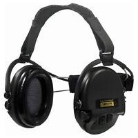 Gehörschutz Kabselgehörschutz mit Bügel klappbar schwarz oliv NEU