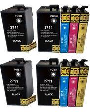 10 cartuchos tinta NonOem para Epson WorkForce WF 7620DTWF WF 7610DWF T2711