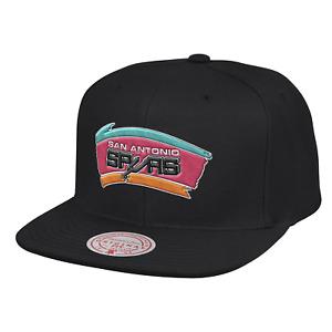 Mitchell & Ness Black NBA San Antonio Spurs Finals Patch HWC Snapback