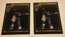 Lot of (2) Star Co. WILT CHAMBERLAIN Gold Preview cards. Philadelphia Warriors