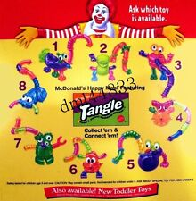 1997 McDonalds Nickelodeon Tangle Twist-A-Zoid MIP Complete Set, Boys/ Girls, 3+