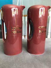2 Chivas Regal Whiskey Scotch Whisky Ceramic Pitcher Mugs Barware pottery