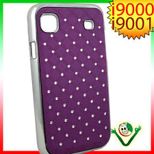 Custodia BRILLANTINI per Samsung Galaxy S i9000 i9001 plus back cover LUCE VIOLA