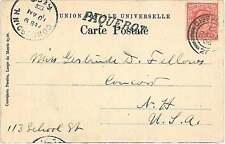 GIBRALTAR -  POSTAL HISTORY:  POSTCARD to USA 1906 - PAQUEBOT