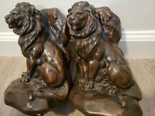 New listing Vintage Jb 1516 Jennings Brothers Lion & Mouse Art Sculpture Statue Bookends