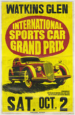 1940's Alfa Romeo 8C Watkins Glen NY Vintage Advertising Poster 11 x 17
