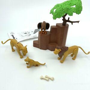 Playmobil 3895 Lion Pride Family Male Female Cub & Vulture Rare Set Retired