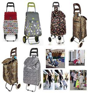 Large Capacity Light Weight Wheeled Shopping Trolley Push Cart Bag Waterproof