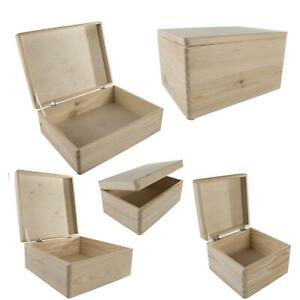 Most Popular Plain Wooden Boxes to Decorate for Christmas Eve  Choice of Sizes