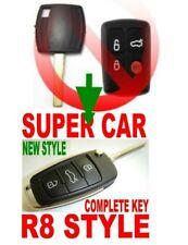 R8 style flip key remote for Ford 2006-2010 FALCON BF FG XR6 XR8 clicker fob 2T