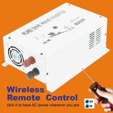 800W Pure Sine Wave Inverter Solar Car Power Inverter 36V to 110V Remote Switch