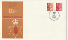 20 OCTOBER 1976 N IRELAND BOTH DEFINITIVES UNADD PO FIRST DAY COVER BELFAST SHS