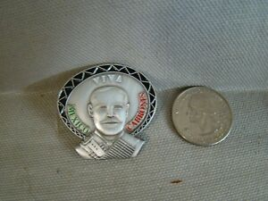Poncho Villa pin Chicano pin hat pin lapel pin shirt pin Hispanic culture pin