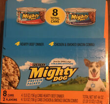 Purina Mighty Dog - Protein Packed! 2 Flavors, 8 Cans! - FREE, FAST SHIPPING!