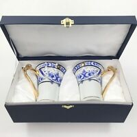 SORELLE FINE PORCELAIN MUGS Two Vintage Coffee Tea Cups Gift Box Hand Crafted