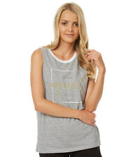RIP CURL Womens Alexis Stripe Active Muscle Tank Top Sleeveless Vest Size 6-14