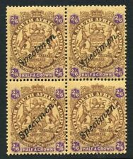 Rhodesia 1896. Sudafrica. 4 sellos. Specimen. Half a crown. Sg 48. MNH. **.