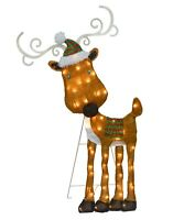 ProductWorks 32-Inch Pre-Lit Reindeer Christmas Yard Decoration, 50 Lights