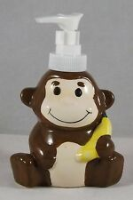 "Greenbrier Pump 4"" Ceramic Lotion Soap Dispenser  - New - Monkey"