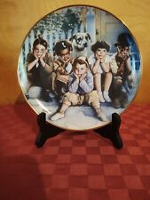 """Little Rascals Collector's """"Plate"""" of Our Gang fine porcelain The Franklin Mint"""