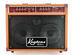 Keytone KAG-80 Acoustic Amp Akustik Verstärker mit Mikrofon Eingang Brown