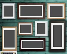 Black Oak White Pink Large Photo Picture Frame Poster Frames with White Mount