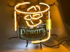 Neon Light Dewars's Scotch Whisky Ice Beer Bar Pub Frame Real Sign 16x16 Me544