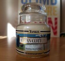 Yankee Candle CLEAN COTTON Black Band 3.7 Oz Baby Jar Housewarmer Retired New