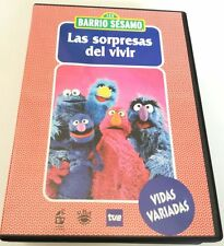 BARRIO SESAMO LAS SORPRESAS DEL VIVIR VERSIONE SPAGNOLO OTTIMO DVD ANIMAZIONE