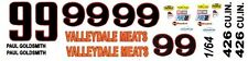 #99 Paul Goldsmith Valleydale Meats 1968 Dodge 1/64th Ho Scale Slot Car Decals