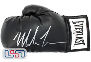 Mike Tyson Autographed Signed Everlast Black Left Hand Boxing Glove Tyson Auth