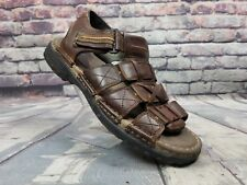 Men's Skechers Fisherman Style Sandals Leather brown slip on shoes  Sz 11 M
