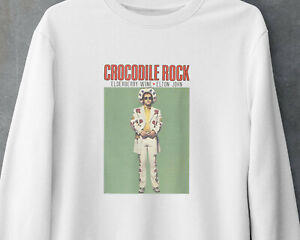 Elton John Country Pop Rock Classic Music Vintage Gift Gildan White Sweatshirt