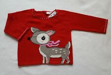 Next BNWT Baby Girls Red Jumper Size 3-6 Months 100% Cotton