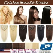 90g 105g Full Head Virgin Remy Slik Clip In Real Human Hair Extensions 16''~22''