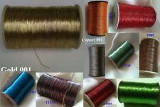 10 Metallic Thread Shiny Embroidery thread Crochet Jewelry Cord Handwork Artwork