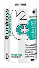 12 X 'd' Lr20 Uniross Power Plus Alkaline Batteries Ultra Power 6 Packs of 2