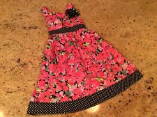 Dress Nwt Girls 6 Youngland brand Shiny Dots, 3D flower New