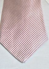 Brooks Brothers Men's Beige Pink White Striped Neck Tie 100% Silk NWOT