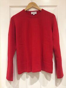 100% Cashmere Jumper Red Vast Land Soft Warm Cosy Present Size M