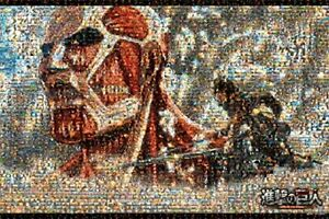Ensky Attack on Titan Mosaic Art 1000 Pieces Jigsaw Puzzle from JAPAN wn6#
