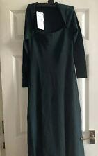 ZARA KNIT DRESS A-LINE FULL SKIRT MAXI LONG JUMPER DRESS GREEN SIZE MEDIUM M