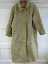 DAXON CARAMEL LONG RAIN COAT MAC TRENCH STYLE WITH COLLAR UK 22 TRAVEL FOLDABLE